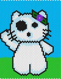 Tree Spirit Hello Kitty Bead Pattern