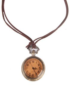 Gold Pocket Watch Necklace