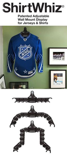 The best jersey display on the planet. Easily hang any type jersey from hockey to football.