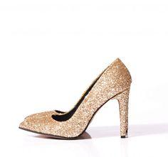 verogia.ro, pantofi stiletto aurii, pantofi gliter, pantofi comozi, pantofi cu toc, pantofi dama, pantofi eleganti