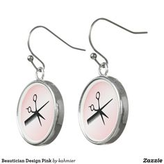 Beautician Design Pink Earrings