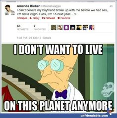"""The 15 Best Comebacks to """"Amanda Bieber"""" Tweets -  some one please slap some sense into this poor idiot ..."""