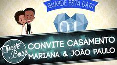 Convite Animado Casamento (Personagem) - Mariana e João Paulo