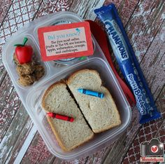 A healthy school lunch in @Kelly Lester / EasyLunchboxes by mamabelly.com