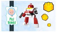 Jucarii LEGO Robot Rosu Sluban Space Red Robot Figures DIY Building Block