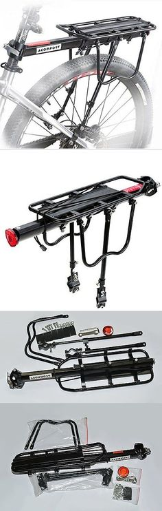 Carrier and Pannier Racks 177836: Acomfort 110 Lbs Capacity Adjustable Bike Luggage Cargo Rack Bicycle Accessories -> BUY IT NOW ONLY: $33.56 on eBay!