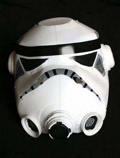 Como hacer la mascara de los soldados de Star Wars con envases de lechePichicola.net   Pichicola.net