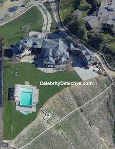 The Osbournes house, photos of celebrity homes and mansions, aerial photos…