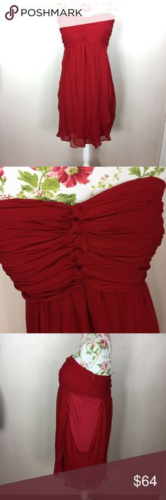 Red strapless miss me/MM could tour dress NWT Brand-new with tags's. In excellent condition. Extremely flattering as it fits the Bust nicely but is a little bit more forgiving in the stomach area MM Couture Dresses Strapless