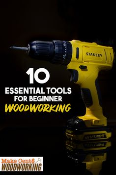 Know the basic essential tools needed for beginner woodworkers to add to their shop. Create amazing wooden DIY crafts with the right tools. Wood Projects That Sell, Woodworking Projects That Sell, Woodworking For Kids, Woodworking Books, Diy Wood Projects, Teds Woodworking, Wood Crafts, Diy Crafts, Carpentry Projects