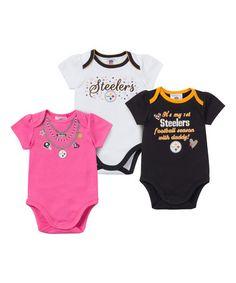 Pittsburgh Steelers Bodysuit Set - Infant #zulily #zulilyfinds