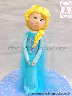Topo de bolo Elsa Frozen de EVA