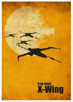 Star Wars Millennium Falcon, X-Wing and ATAT Vintage Poster Set by Posterinspired via Etsy