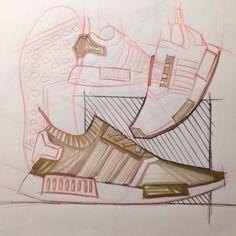 Adidas Nmd Sketching By Myself (Thechi Axel) - #design#art#sketch#sketching#rendering#draw#drawing#copic#sneakers#sneakerdesign#adidas#adidasnmd#nmd#designer#inspiration #imathechi