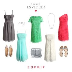 You're invited! Take a look at our prettiest #Esprit #wedding guest and cocktail #dresses of the season.