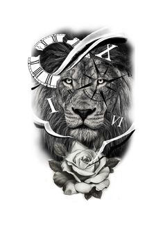 Best Picture For tattoo vrouw For Your Taste You are looking for something, and it is going to tell you … Lion Tattoo Sleeves, Best Sleeve Tattoos, Tattoo Sleeve Designs, Tattoo Designs Men, Lion Head Tattoos, Mens Lion Tattoo, Baby Tattoos, Clock Tattoo Design, Lion Tattoo Design