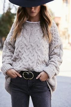 Destroyed Cable Pullover by Free People
