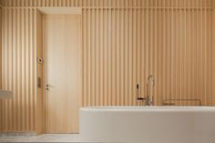 DIVINE RESTORATION A remodeled bathroom, designed by renowned architect David Chipperfield, gives our Editor-in-Chief new perspective. [[MORE]] CR: What made you choose David as the architect for this. Bad Inspiration, Bathroom Inspiration, Interior Design Inspiration, David Chipperfield Architects, Carine Roitfeld, Parisian Apartment, Timber Cladding, Tiles Texture, Bathroom Interior Design
