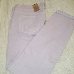 Corduroy pants J.CREW in pretty lilac color stretch pans. Just got this for Christmas. But fit a little to loose. Only serious and reasonable offers please. J. Crew Pants Straight Leg