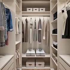 Walk In Closet Ideas - Searching for some fresh ideas to renovate your closet? Visit our gallery of leading deluxe walk in closet design ideas and also photos. Walk In Closet Design, Bedroom Closet Design, Master Bedroom Closet, Closet Designs, Small Walk In Closet Ideas, Small Walk In Wardrobe, Small Closets, Bedroom Designs, Small Master Closet