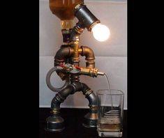 Loft style dispenser - lamp for whiskey/liquor/cola/brandy/cognac | Vintage | Edison | Industrial | Steampunk age | Designer Gift | Barware