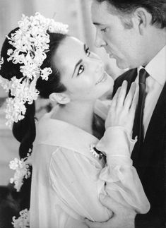 Elizabeth Taylor and Richard Burton on their wedding day, 1964