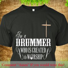 Drummer Created to Worship