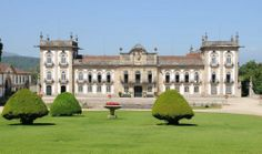 The Palace of Brejoeira, a prime example of northern Portuguese Baroque architecture. Architecture Baroque, Wine Tourism, Portuguese Culture, Le Palais, Beautiful Castles, Portugal Travel, Construction, Tours, Lisbon