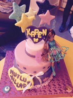Karen için yaptigimiz Winx temalı dogum gunu pastası