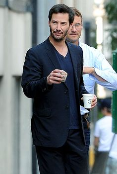 Keanu Reeves drinking pumpkin spice lattes. Two of my favorite things.