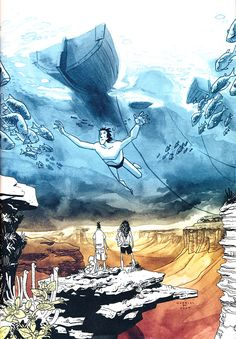 Daytripper, by Fabio Moon and Gabriel Ba - simply awesome Comic Book Artists, Comic Artist, Comic Books Art, Fabio Moon, Conceptual Drawing, Graphic Novel Art, Paint Photography, Comic Kunst, Cool Posters