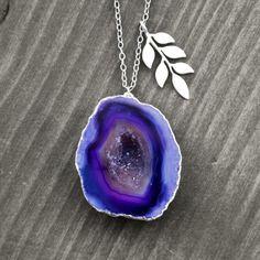 OOAK AGATE DRUZY NECKLACE by German jewelry designer koshikira