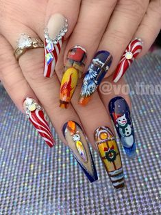 - Amazing Christmas coffin nails design with snowflakes, Christmas Snowflakes coffin nails , Acrylic coffin nails design for Christmas,Christmas Nails; Nail Art Designs, Colorful Nail Designs, Nails Design, Xmas Nails, Christmas Nails, Christmas Snowflakes, Christmas Christmas, Nail Selection, Classic Nails