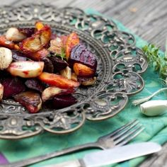 Roasted Root Vegetables with Curry and Thyme