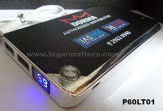 Powerbank P60LT01, 6000mAh, with digital indicator. Orderd by PT Dorma Indonesia, Jakarta Indonesia.