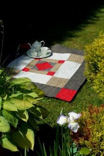 Taking tea in the garden.littlewelshquiltsandothertraditions.blogspot.com