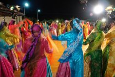 Persian Nomad Women Dancing at a Wedding. I Love the Colors!!!