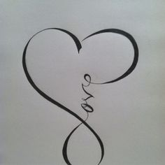 infinity. I love this for a tattoo....