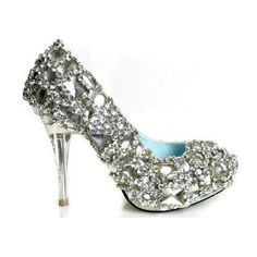 "The word ""bling"" just doesn't cut it in this instance . . .quite possibly the prettiest shoe I've every seen"