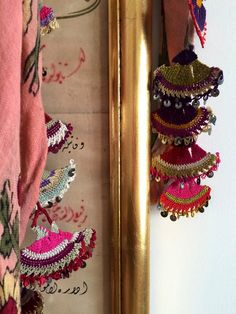 simply beautiful, delicate and colourful antique Turkish textiles details.