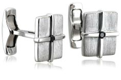 Men's Sterling Silver Matte Square Cuff Links with Black Diamond (1/10 cttw) Amazon Curated Collection. $67.50. The total diamond carat weight listed is approximate. Variances may be up to .05 carats.. All our diamond suppliers certify that to their best knowledge their diamonds are not conflict diamonds.. Made in China