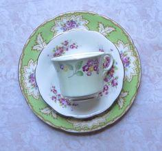 Vintage Mismatched Bone China 3-Piece Set Dessert by MiladyLinden