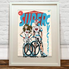 Super Cyclists Art Print by wyatt9dotcom on Etsy
