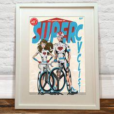 Super Cyclists Art Print by wyatt9dotcom on Etsy