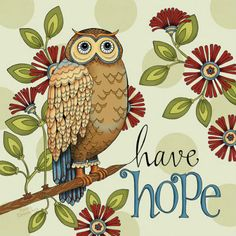 Thought of The Day: Have Hope - Owl