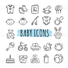 Hand drawn kids symbols: toys, food, clothes The Effective Pictures We Offer You About Baby Clothing swag A quality picture can tell you many things. Toys Drawing, Baby Drawing, Clipart Baby, Pregnancy Journal, Baby Journal, Doodle Baby, Baby Icon, Baby Illustration, Kids Icon