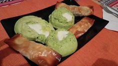 Tortini di zucchine con cuore caldo e Involtini primavera