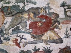 Mosaic from Roman Villa, Piazza Armerina, Sicily.