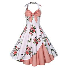 How to make vintage dresses vintage dresses vintage halter floral print dress bncwmud Halter Dress Summer, Summer Dresses, Summer Outfits, Dress Beach, Pretty Dresses, Beautiful Dresses, Vintage Outfits, Vintage Fashion, Vintage Style