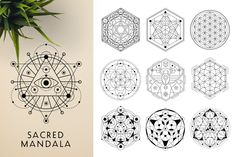 This bundle contains 300 unique vector Black & White mandala designs (some have clean lines and some have an organic look to have a more hand made feel to it) - Mandala Design, Mandala Art, Geometric Tattoo Sleeve Designs, Sacred Geometry Symbols, Indian Mandala, Paper Ornaments, Canvas Prints, Art Prints, Painted Paper